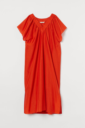 H&M Silk-blend Kaftan - Orange