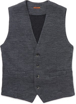 Barena - Mélange Wool And Cotton-blend Waistcoat