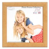Inov-8 Inov8 British Made Traditional Picture/Photo Frame, Square 5x5-inch, Value Natural
