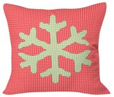 "DENY Designs Snowflake Throw Pillow - Red (20"" x 20"