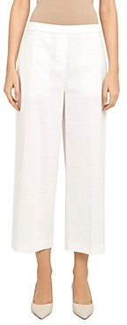 Theory 'Good Linen' Wide Leg Pull-On Pants
