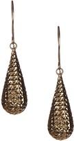 Dani G Jewelry 10K Yellow Gold Diamond-Cut Teardrop Earrings