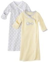 Circo Newborn 2 Pack Gown - Yellow/Grey Preemie