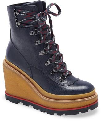 Tory Burch Platform Wedge Hiking Boot