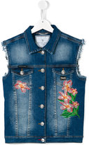 Philipp Plein denim vest - kids - Cotton/Spandex/Elastane - 16 yrs