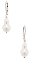Meira T 14K White Gold, Pearl & 0.14 Total Ct. Diamond Drop Earrings