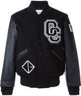 Opening Ceremony baseball jacket - men - Leather/Wool - S