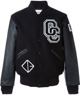 Opening Ceremony baseball jacket - men - Leather/Wool - XS