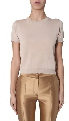 Alberta Ferretti Crewneck Short Sleeve Top