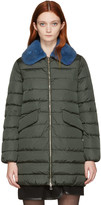 Moncler Green Down Indis Coat