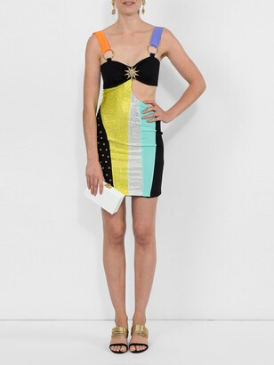 Fausto Puglisi color block mini dress