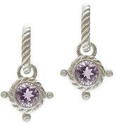 Judith Ripka Sterling Diamonique & Gemstone Drop Earrings