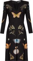 Alexander McQueen Obsession-print V-neck crepe dress