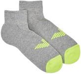 Emporio Armani Grey Logo Cotton Blend Socks - Set Of Two