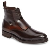 Santoni Men's Hayden Plain Toe Boot With Genuine Shearling Lining