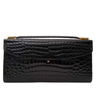 Delvaux Black Crocodile Clutch bags