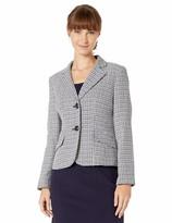 Le Suit Womens 3 Button Notch Collar Flare Skirt Suit