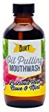 The Dirt All Natural MCT Coconut - Oil Pulling and Mouthwash for Healthier Gums and Teeth - Rose Clove Mint (4 oz)
