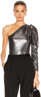 Dakota Alix Nyc ALIX NYC Lame Bodysuit in Gunmetal | FWRD