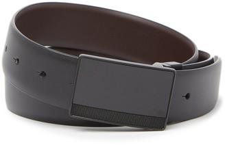 Original Penguin Matte Plaque Leather Belt