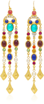 Ben-Amun Ben Amun Gold-Plated Crystal Drop Earrings