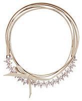 Fallon Jagged Edge Crystal/Leather Choker