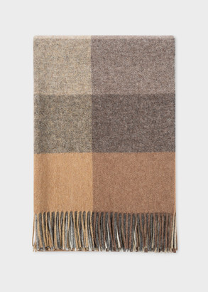 Paul Smith Maharam + Birch Wool Check Blanket