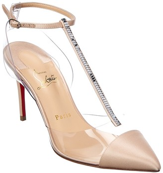 Christian Louboutin Ankle Strap Leather Pump