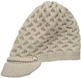 Calvin Klein Women's One Size Honeycomb Cable Cabbie Hat