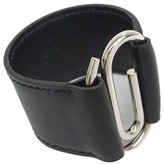Hermes Box Calf Black Leather Bracelet