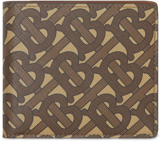 Burberry Logo-Print Coated-Canvas Billfold Wallet