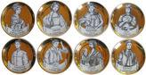 One Kings Lane Vintage Fornasetti-Style Italian Coasters, S/8