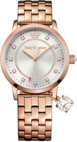 Juicy Couture Women's Socialite Rose Gold-Tone Bracelet Watch with Charm 36mm 1901476