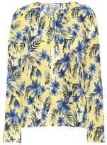 Balenciaga Floral-printed silk blouse