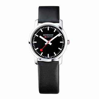 Mondaine Women's SBB Stainless Steel Swiss-Quartz Watch with Leather Strap
