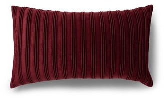 Protect A Bed Cebu Striped Throw Pillow Protect-A-Bed Color: Burgundy