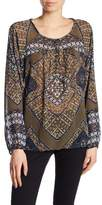 Lucky Brand Printed Long Sleeve Blouse