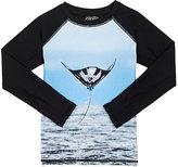 Molo Kids Stingray-Print Long-Sleeve Rashguard