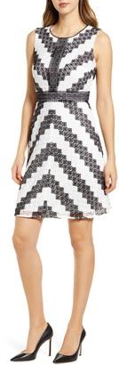 Karl Lagerfeld Paris Lace Overlay Sleeveless Dress