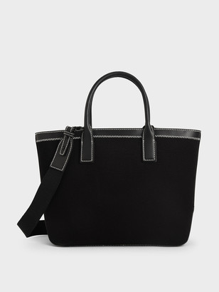 Charles & Keith Canvas Double Handle Tote Bag
