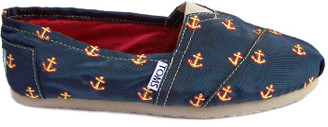 Toms Navy Anchor Embroidered Classics - 37.5 | navy - Navy