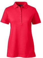 Lands' End Women's Petite Pima Polo Shirt-Rich Sapphire