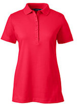 Lands' End Women's Tall Pima Polo Shirt-Rich Sapphire