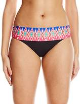 LaBlanca La Blanca Women's Sanbar Shirred Band Hipster Bikini Bottom