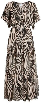 MISA Thalia Zebra Print Dress