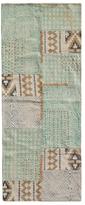 Karma Living Boho Stonewashed Block Printed Cotton Rug