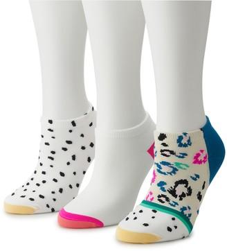 Gold Toe Women's GOLDTOE 3-pack Leopard Print No Show Socks