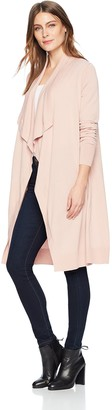 Lark & Ro Amazon Brand Women's Long Waterfall Cardigan Sweater