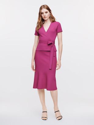Diane von Furstenberg Mirella Stretch-Milano Knit Wrap Top