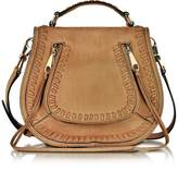 Rebecca Minkoff Vanity Almond Leather Small Saddle Bag
